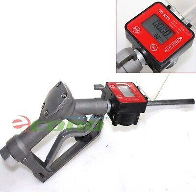 Fuel Gasoline Diesel Petrol Oil Gun Manual Nozzle Dispenser Wdigital Flow Meter