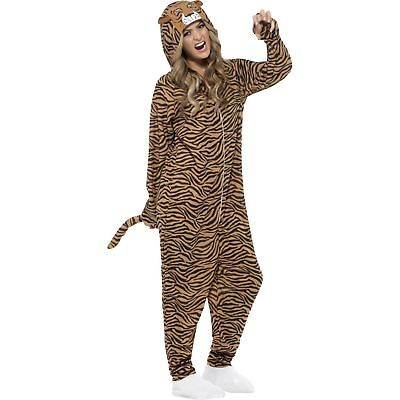 Tiger Wild Zoo Animal Lion Mammal Roar Adult Mens Fancy Dress Costume