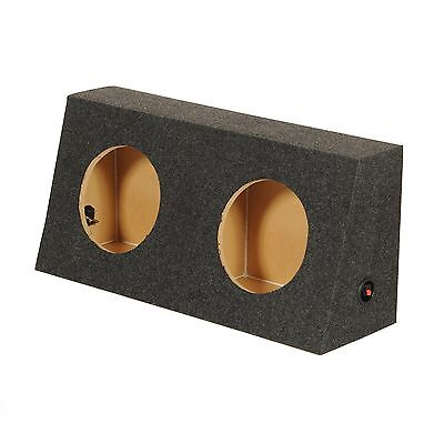 Q Power Dual 12-Inch Sealed Carpeted Subwoofer Box For Jeep Wrangler | JEEP12