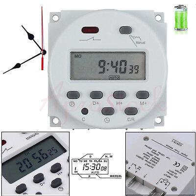 Digitale LCD Zeitschaltuhr Timer Programmierbar Schalter Zeit Gut DC/AC 12V 16A