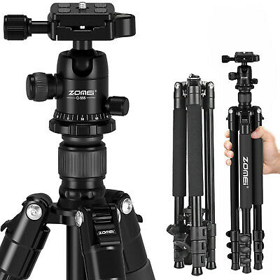 ZOMEI Q555 Professional Aluminium Tripod&Ball Head Travel for Canon Nikon Camera