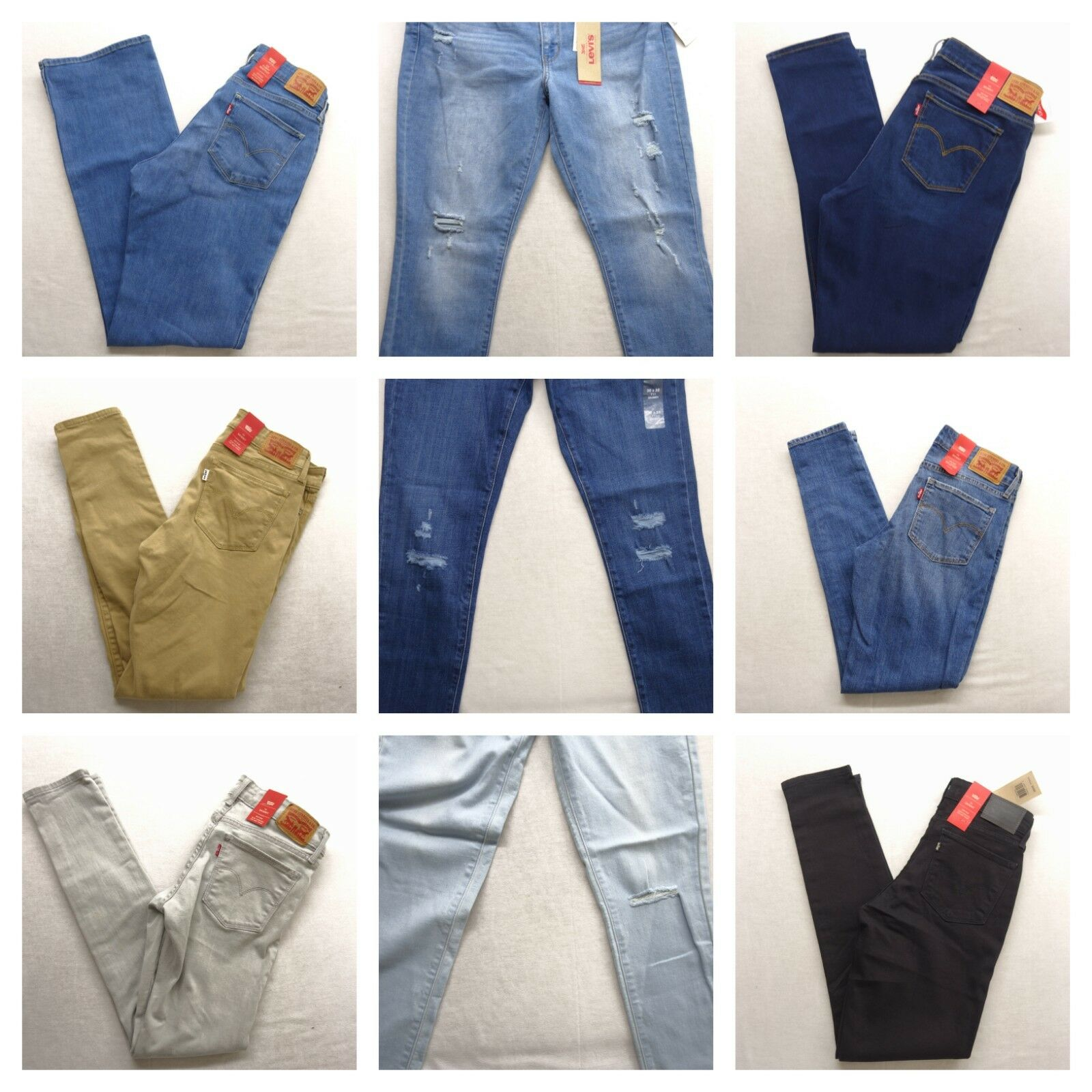 Levi's Womens 711 Skinny Stretch Denim Jeans Pants All Sizes