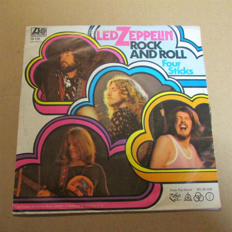 "Led Zeppelin Rock And Roll / Four Sticks 1972 7"" Vinyl Import German Atlantic"