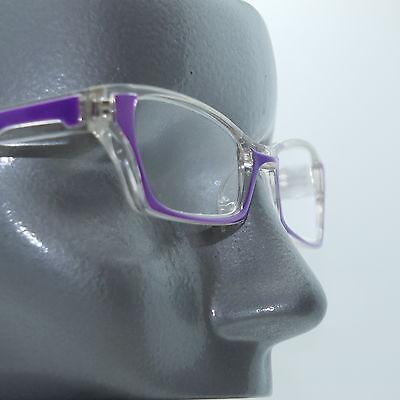 Ombre Violet Crystal Modern Cat Eye +1.25 Reading Glasses Wide Frame ()