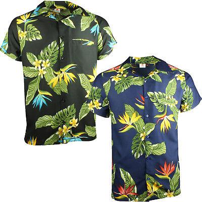 HAWAIIAN SHIRT PARTY FANCY DRESS S XL XXL BEACH FLORAL STAG LEAF HOLIDAY LARGE