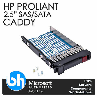 "HP Proliant 2.5"" Caddy SAS/SATA Hot-Swap Hard Drive Tray + Screws"