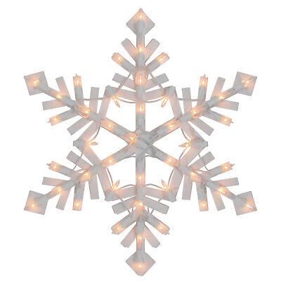 "Northlight 15.5"" Lighted Snowflake Christmas Window Silhouette"