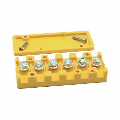 40a 6 Position General Electric Terminal Board Yellow For Go Kart Cart Quad