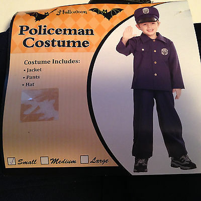 Policeman Halloween Costume For Little Boys ( Or Girls!) - Size Small