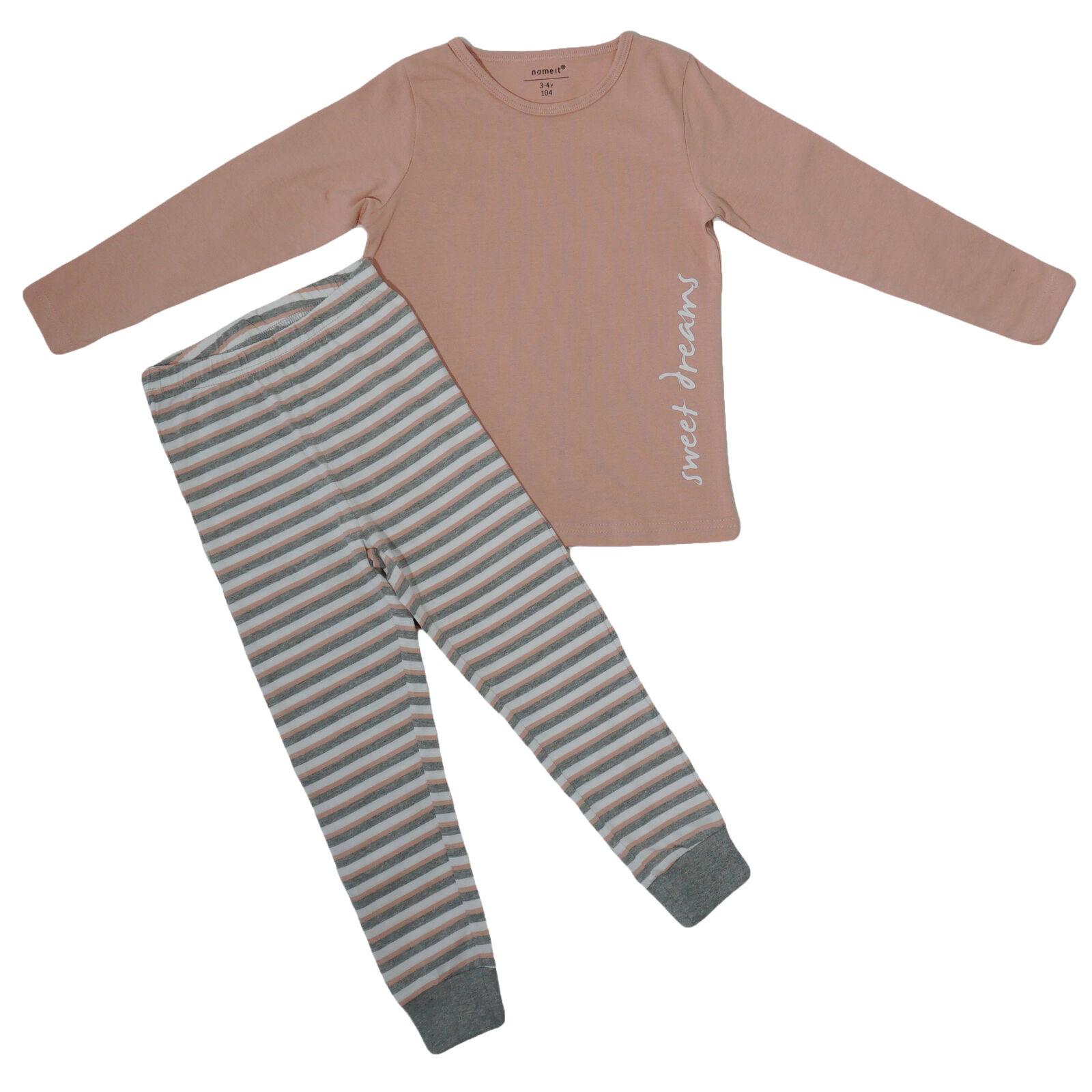Name It PYJAMA Nightset Set Baby Mädchen Nightsuit Zweiteiler Schlafanzug Rosa