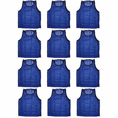 12 SCRIMMAGE VESTS PINNIES SOCCER YOUTH BLUE ~ NEW!