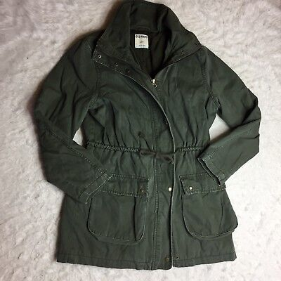 - Old Navy Womens Utility Green Jacket Parka Coat Size Small Drawstring Waist O3