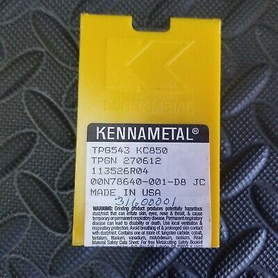 Kennametal Tpg543 Tpgn27016 New Carbide Inserts Grade Kc850 5pcs