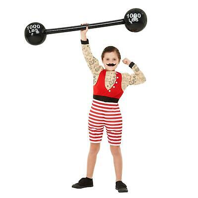 Baby Strongman Costume (Kids Boys The Greatest Showman Strongman Costume Circus Fancy Dress Outfit)