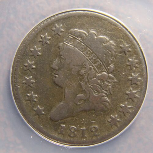 1812 Classic Head Large Cent, S-290, F-15, Small Date