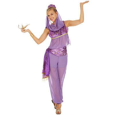Orient Kostüm Frauen Karneval Fasching Halloween Aladin Prinzessin Dress lila