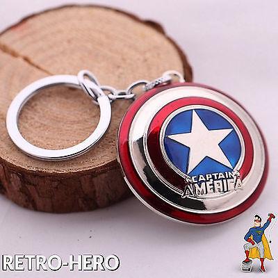 CAPTAIN AMERICA Schlüsselanhänger Schild Marvel silber Key Anhänger The Avengers ()