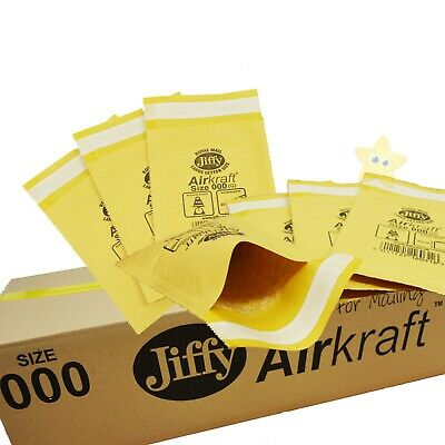 100 x JL000 JIFFY PADDED BUBBLE BAGS ENVELOPES 90x145mm