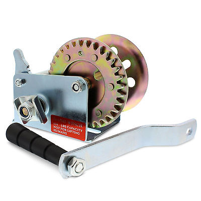 Abn Hand Crank Gear Winch Single-speed Up To 600 Lb For Trailer Boat Or Atv