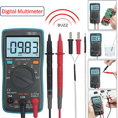 6000 Counts Digital Multimeter True Rms Acdc Voltage Resistance Multi-tester