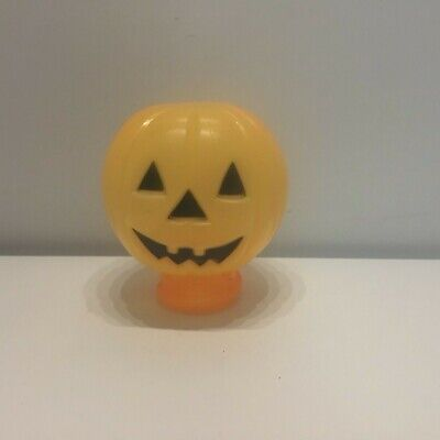 Vintage blow mold pumpkin head for flash light or blinky