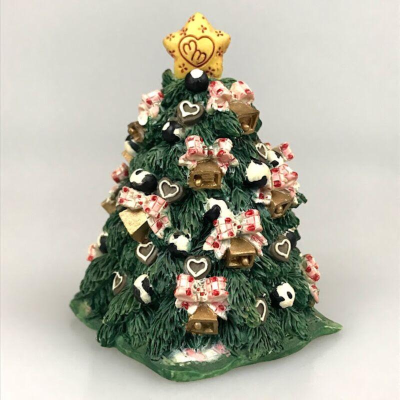 Cow Figurine Marys Moo Moos Christmas Tree Holiday Cow Print Ornaments Retired