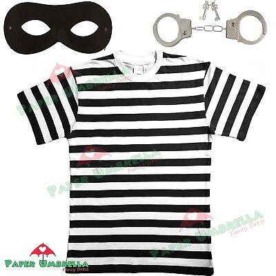 Herren Einbrecher Dieb Maskenkostüm Junggesellen Party schwarz - Herren Einbrecher Kostüme