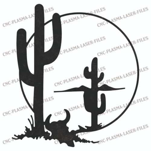 Cactus Western DXF Sign Plasma Laser Waterjet Router Plotter Cut Vector CNC