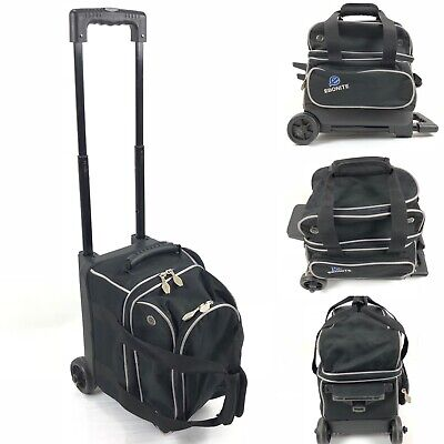 Ebonite Evolution Eclipse Black 1 Ball Roller Wheeled Bowling Carry Bag