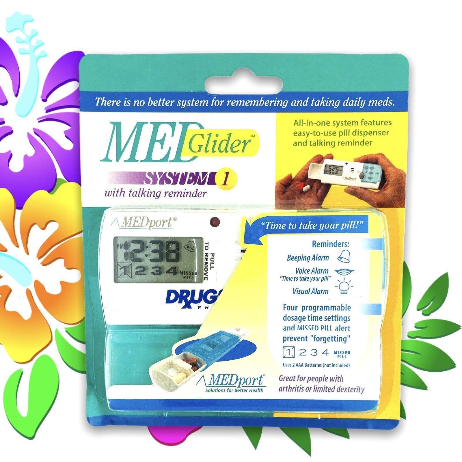 MEDport MEDglider System 1 With Talking Timer Alarm Pill Box