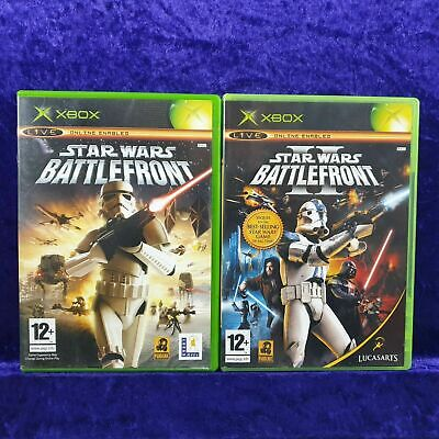 xbox Original STAR WARS BATTLEFRONT x2 Games 1 + II 2 PAL UK Version