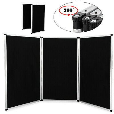 70.8 X 35 3 Panel Tabletop Display Presentation Board Tri-fold Fabric Stand