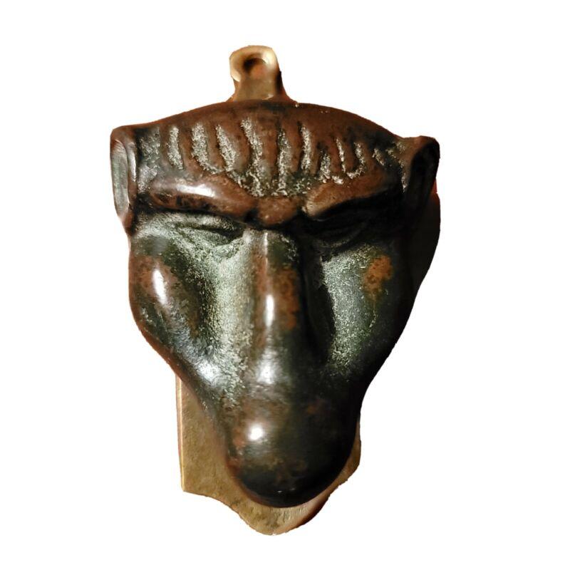 Antique Bronze/Brass Baboon Head Door Knocker