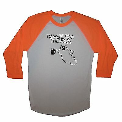 raglan i'm here for the boos funny halloween costume idea shirt t ghost beer tee - Ghost Halloween Costume Ideas