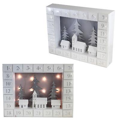 Natale in Legno Calendario Avvento Luce fino Case Design - Add Proprio Delizie