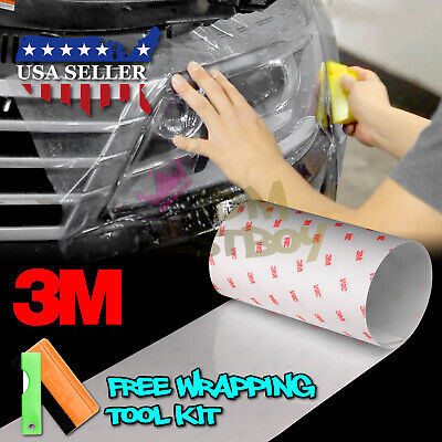 *3M Clear Protection Film Headlight Taillight Fog Light Sider Marker Vinyl Wrap