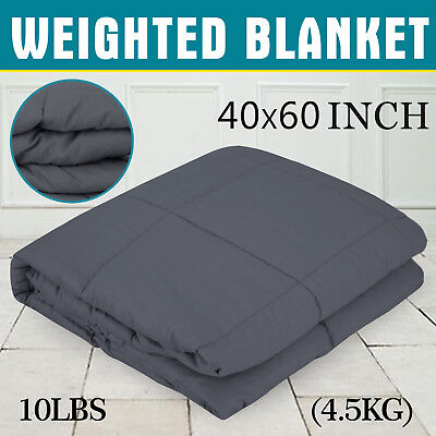 """Heavy Gravity Sensory Weighted Blanket 10lbs 41""""x60"""" Non-tox"""