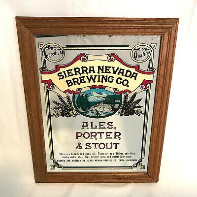 """Sierra Nevada Brewing Co. Vintage Display Mirror 14.5"""" X 18.5"""""""