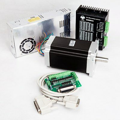 Free Ship 1axis Nema34 Stepper Motor 1232oz.in 5.6adriver Dm860a Cnc Kit