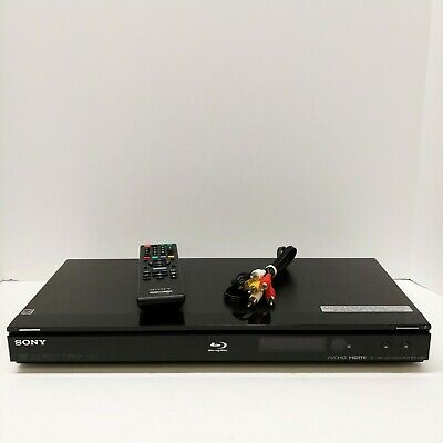 Sony Blu-Ray Disc/DVD Player BDP-S360 Black With Remote & AV Cords Tested Works