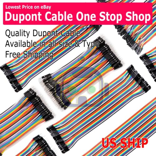 40pc All Type 10 20 30cm Male Female Dupont Wire Jumper Cable Arduino Breadboard
