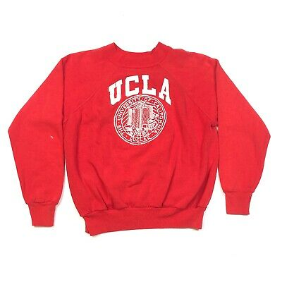80s Sweatshirts, Sweaters, Vests | Women Vintage 1980s Red UCLA Crewneck Sweater Pullover Size Small S Red College Rare  $45.00 AT vintagedancer.com