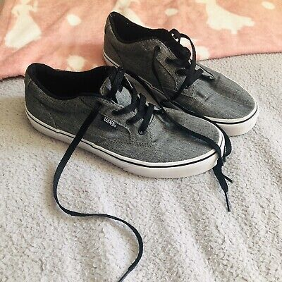 Boys Vans Trainers Grey Junior Size 4