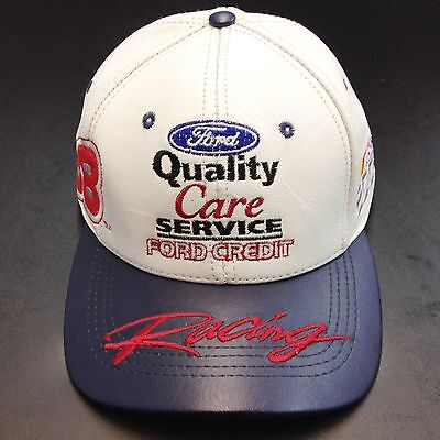 Ford Quality Care Service   Ford Credit  88 Nascar Baseball Leather Hat Cap