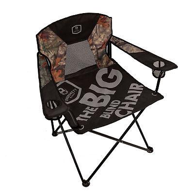 Barronett Blinds BA800 Big Blind Black & Camo Oversized Heavy Duty Folding Chair