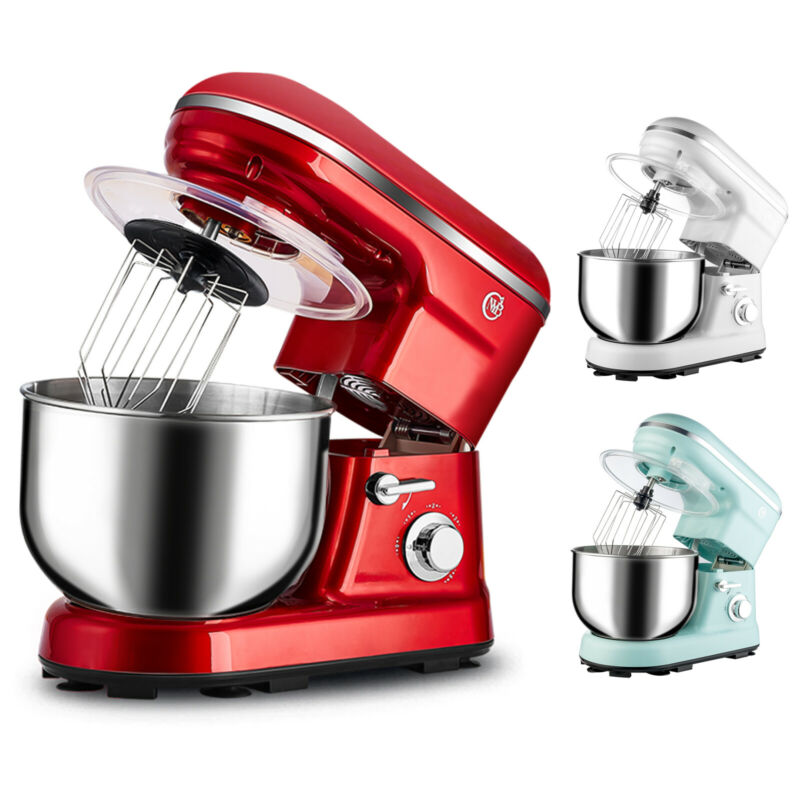 Electric Food Stand Kitchen Mixer Tilt-Head Stainless Steel Bowl with Dough Hook