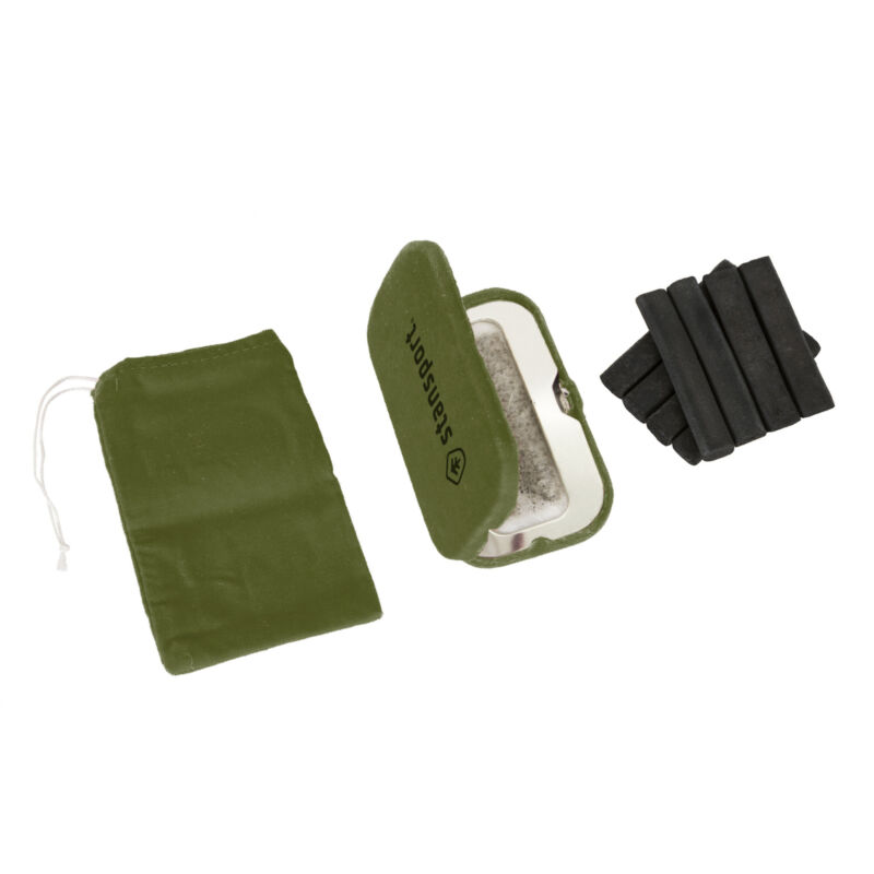 STANSPORT SOLID FUEL HAND WARMER FIBERGLASS INSULATION CAMPING OUTDOOR NEW