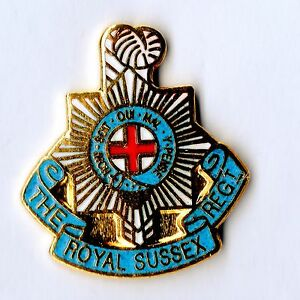 Enamel-Lapel-Badge-SUSSEX-REGIMENT