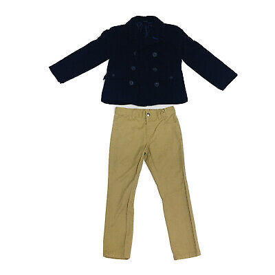 Nautica Navy Blue Winter Jacket and Khaki Pants (Toddler's Size 4T)
