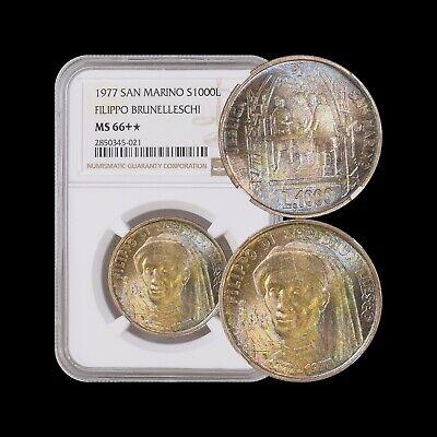 KM# 127 SILVER Commemor coin VIRGIL AENEID UNC SAN MARINO 1000 LIRE 1981
